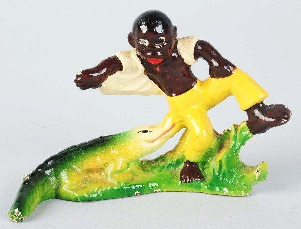 150 cast iron black boy with alligator bottle opener lot 150 - Alligator bottle opener ...