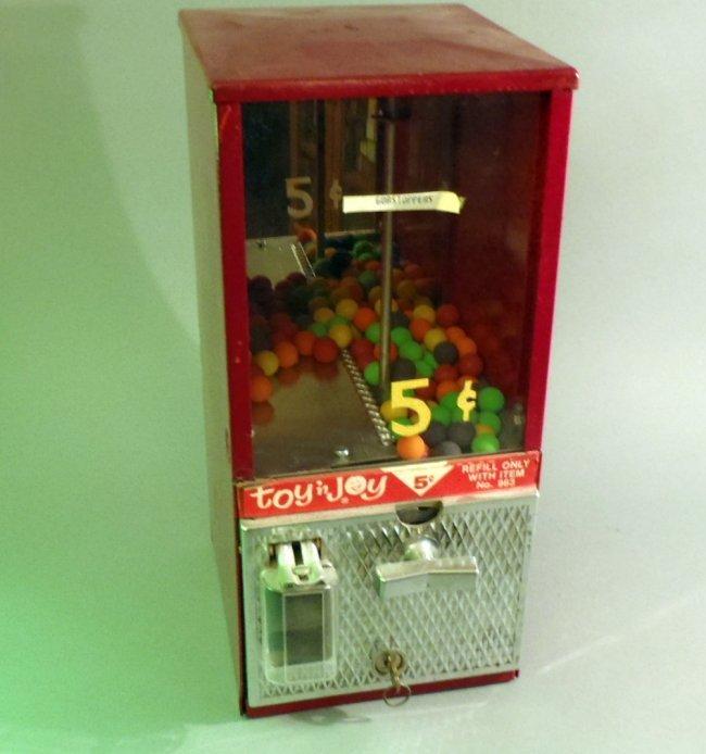 Toy N Joy Machine : Toy n joy candy machine lot