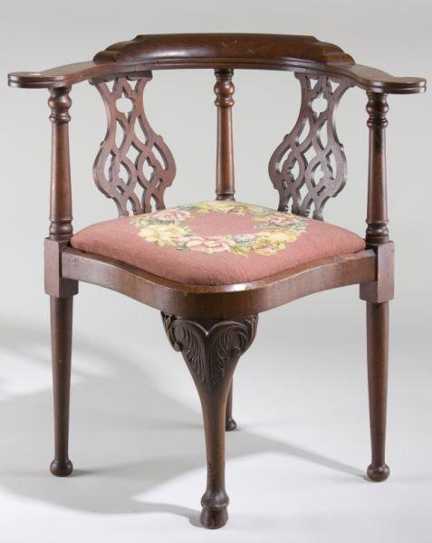 261 georgian style antique corner chair lot 261