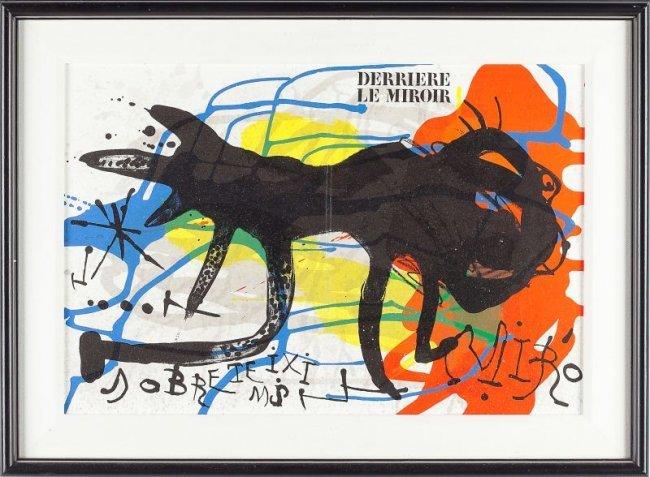 Joan miro spanish 1893 1983 derriere le miroir lot 696 for Miro derriere le miroir