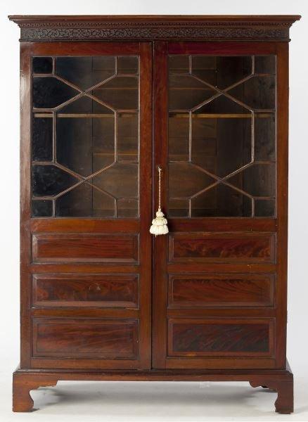 georgian style antique china cabinet lot 443