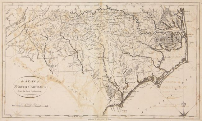 Rare 18th Century Map Of North Carolina Lot 30