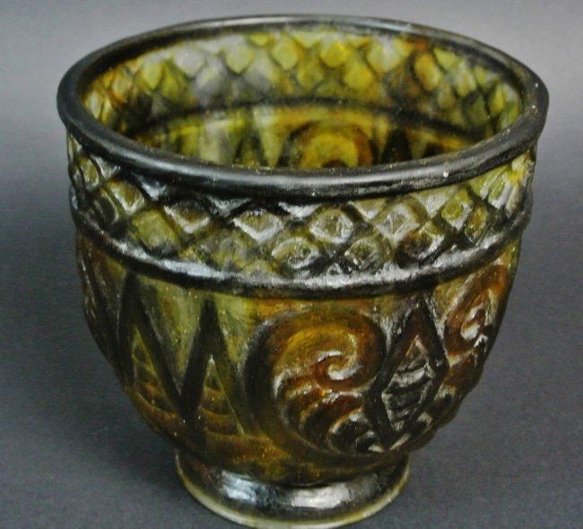 large argy rousseau pate de verre vase lot 209