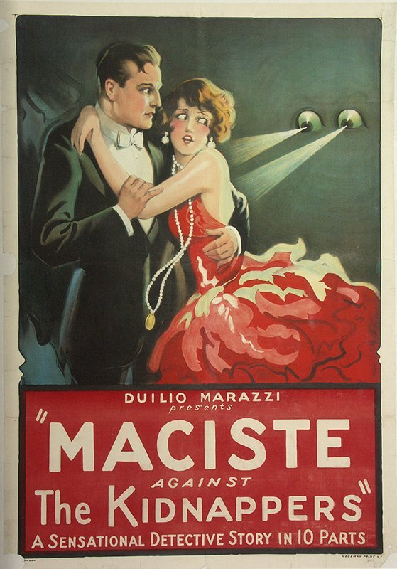 65: Maciste Against the Kidnappers 1920's Movie Poster ...