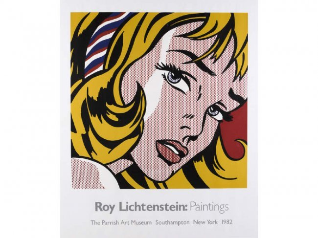 Roy lichtenstein american 1923 1997 poster lot 196 for Poster roy lichtenstein