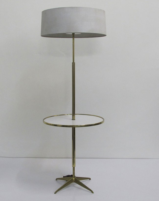 stiffel brass floor lamp attributed to tommy parzinger lot 274. Black Bedroom Furniture Sets. Home Design Ideas