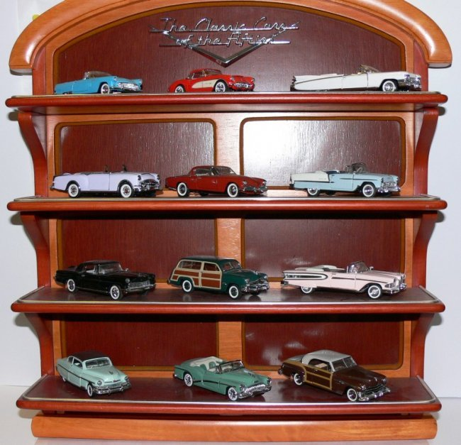 Franklin Mint Classic Cars Of The Fifties With Display