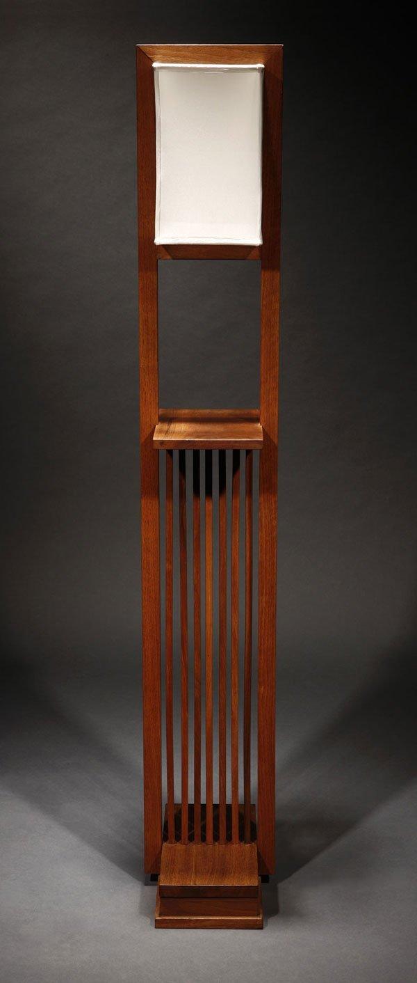 1142 a frank lloyd wright designed walnut floor lamp lot 1142. Black Bedroom Furniture Sets. Home Design Ideas