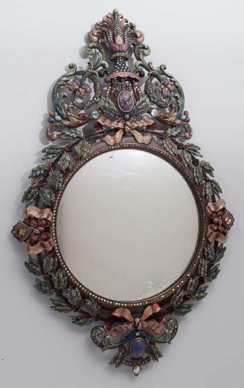 Jay strongwater french baroque style wall mirror lot 65 for Baroque style wall mirror