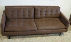 crate barrel petrie sofa lot 335