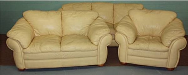 2199 Decoro Butter Color Leather Couch Settee Amp Chair