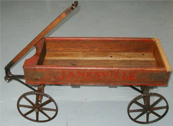 Wooden+Wagon+Toys 1207: Janesville Ball Bearing Wooden Wagon