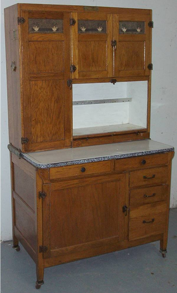 1173 mcdougall oak hoosier kitchen cabinet lot 1173 amish kitchen hoosier cabinet hutch baking center new ebay
