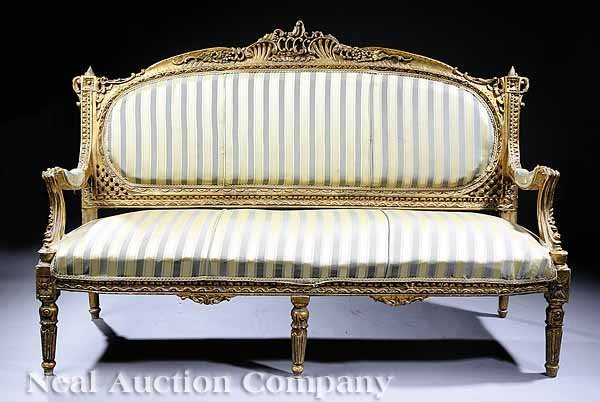 1118 napoleon iii carved giltwood canape lot 1118 for Canape french translation