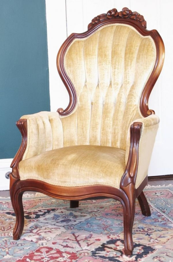 Victorian style arm chair lot