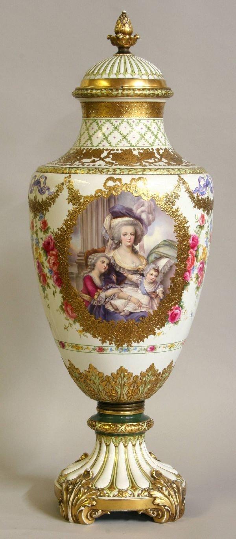 99 Monumental Royal Bonn Portrait Vase Lot 99