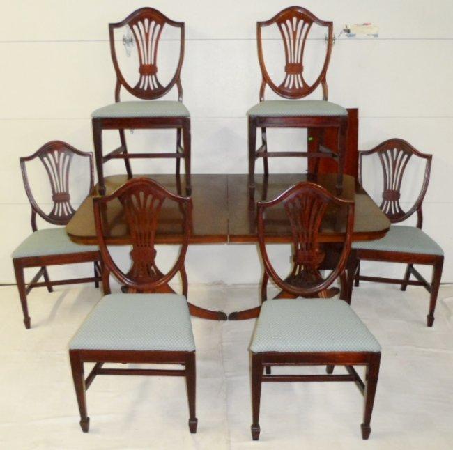 bernhardt mahogany dining room set lot 155c