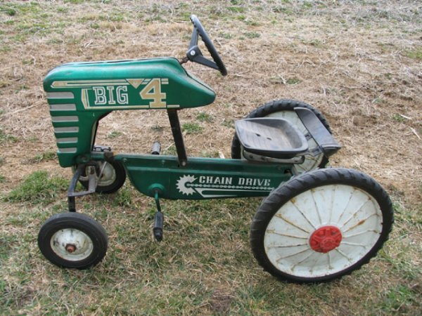 Drive Chain Tractor : Big peddle tractor by amf chain drive lot
