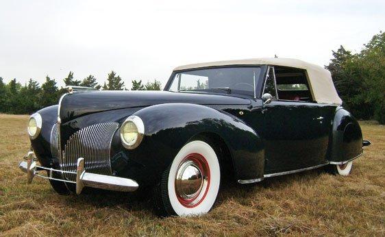 127 1940 lincoln zephyr continental cabriolet lot 127. Black Bedroom Furniture Sets. Home Design Ideas