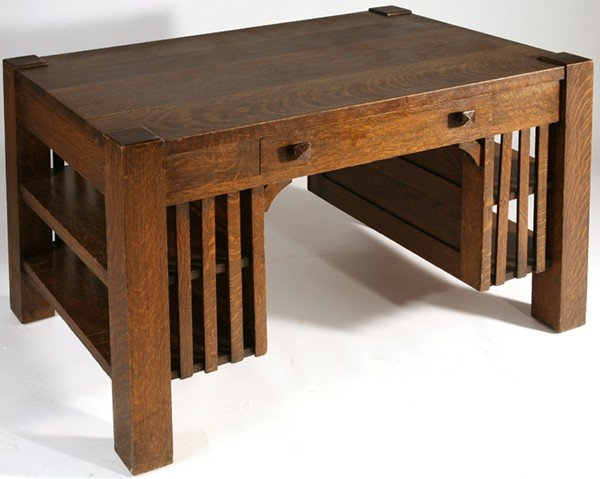 278: ARTS & CRAFTS (MISSION) LIBRARY TABLE : Lot 278