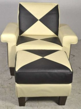 Todd oldham lazboy chair ottoman todd oldham lazboy lot 77 for Furniture 365 oldham