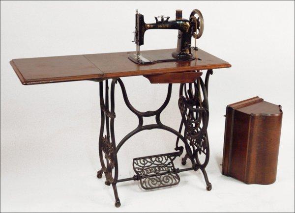 290 Domestic Treadle Sewing Machine Lot 290