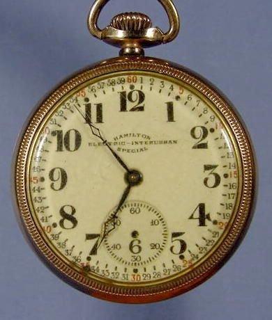 110a Hamilton Electric Interurban Special Pocket Watch