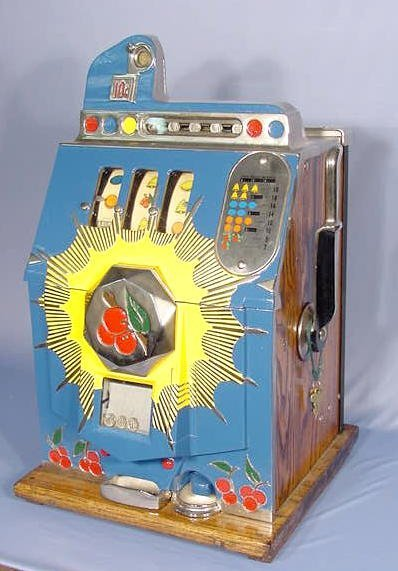 bell fruit gum wooden slot machine