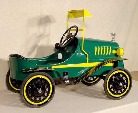 3075: Tin Lizzie Fully Restored Pedal Car NR : Lot 3075