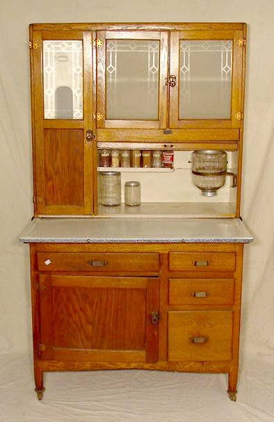 3085A Oak Sellers Kitcheneed Kitchen Cabinet NR Lot 3085A
