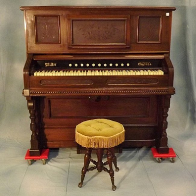 Antique Pump Organ By Miller Organ Co., Lebanon PA, : Lot 109