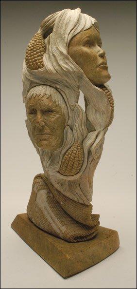 Native art joseph jacobs stone carving lot