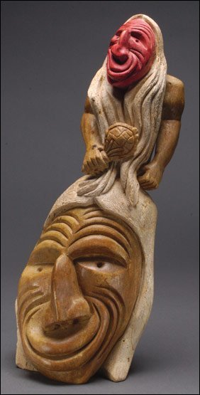 Native art jacob thomas a stone carving