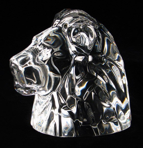 692148 Baccarat Crystal Lion Head Lot 692148