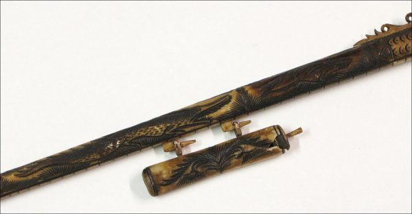 713029 Balinese Carved Resin And Wood Blow Gun Lot 713029