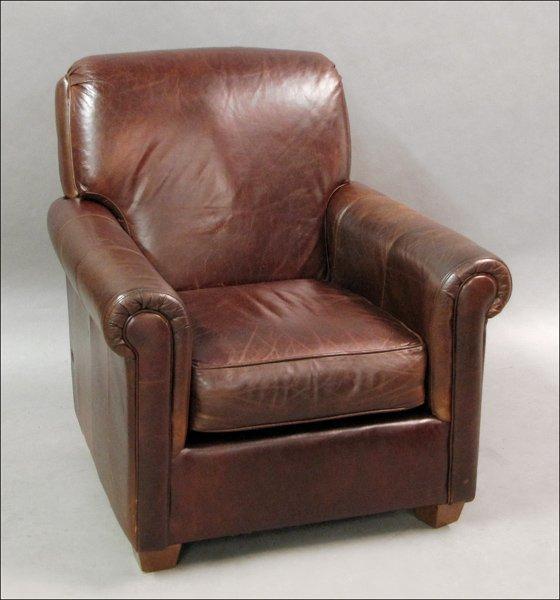 741013 bauhaus leather club chair lot 741013. Black Bedroom Furniture Sets. Home Design Ideas