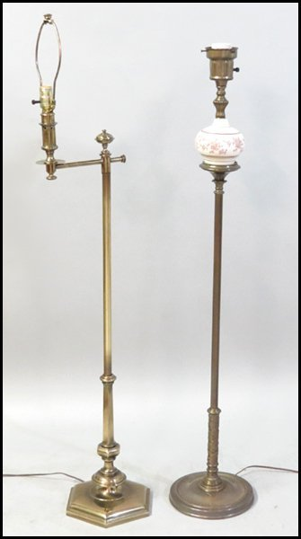 1132236 Stiffel Brass Floor Lamp Lot 1132236