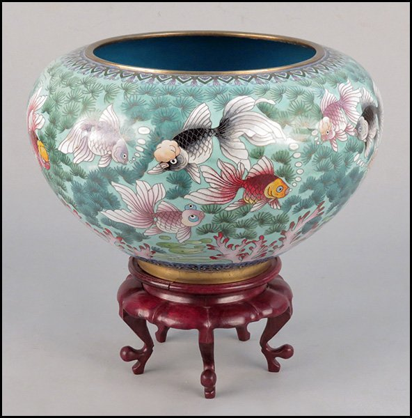 1173051 chinese cloisonne fish bowl lot 1173051 for Chinese fish bowl