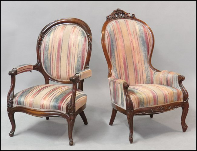 TWO VICTORIAN PARLOR CHAIRS Lot