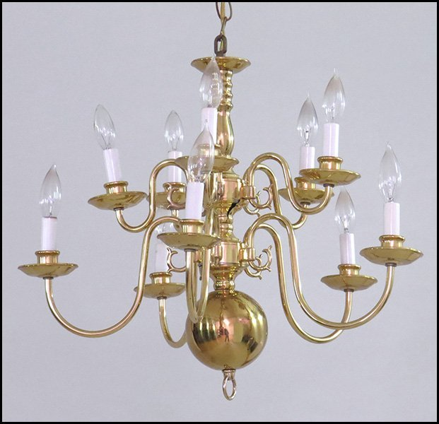 Dutch baroque style ten light chandelier lot 1261114 for Dutch baroque architecture