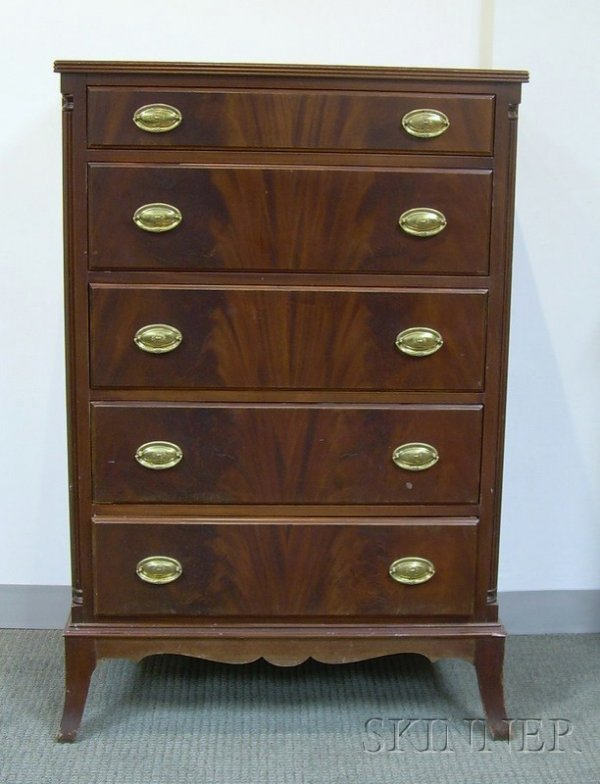 705 A H Stiehl Furniture Federal Style Mahogany And M Lot 705