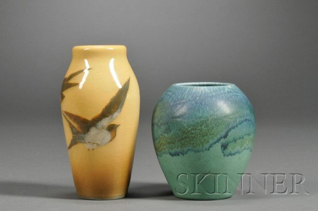 Pine Vase - Rookwood Pottery - Cincinnati, Ohio