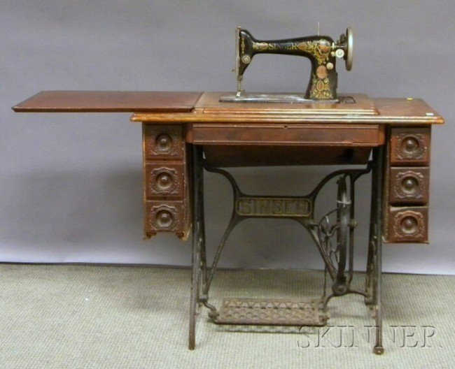 treadle powered sewing machine