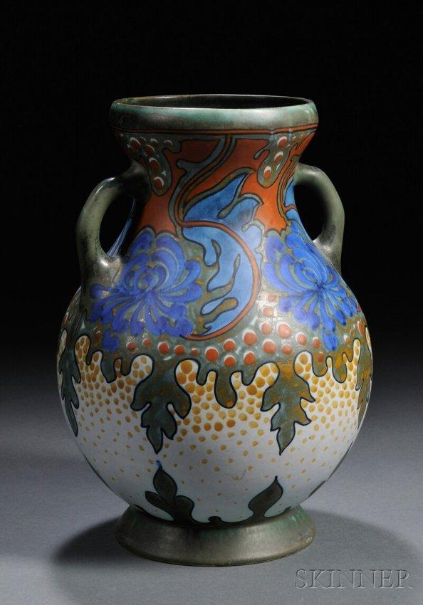 269 gouda amphora vase art pottery sana pattern t for Pottery painting patterns
