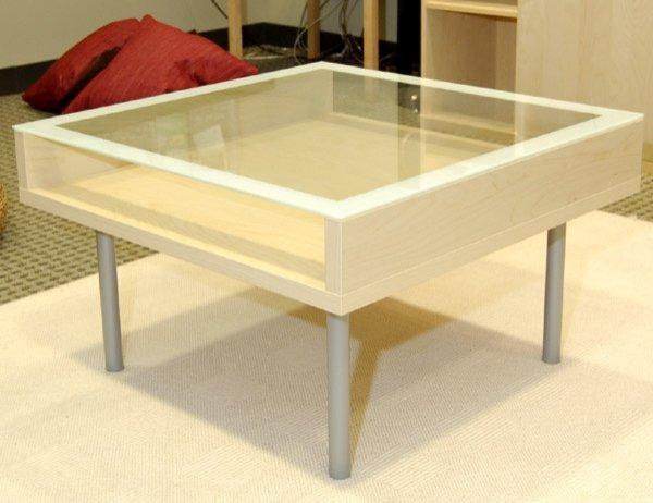 8069 Ikea Magiker Glass Coffee Table Lot 8069