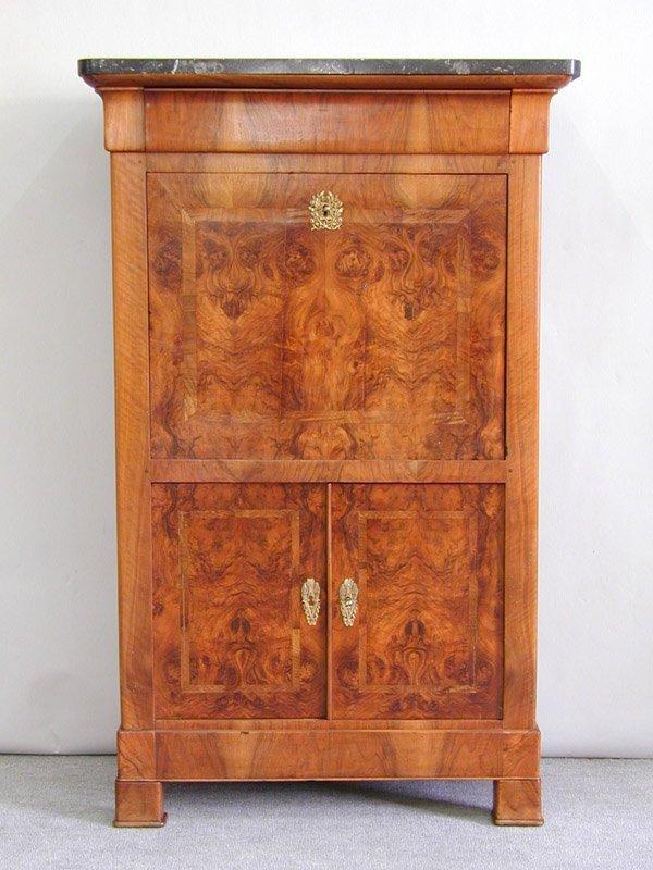 6594 louis philippe secretaire a abattant lot 6594. Black Bedroom Furniture Sets. Home Design Ideas