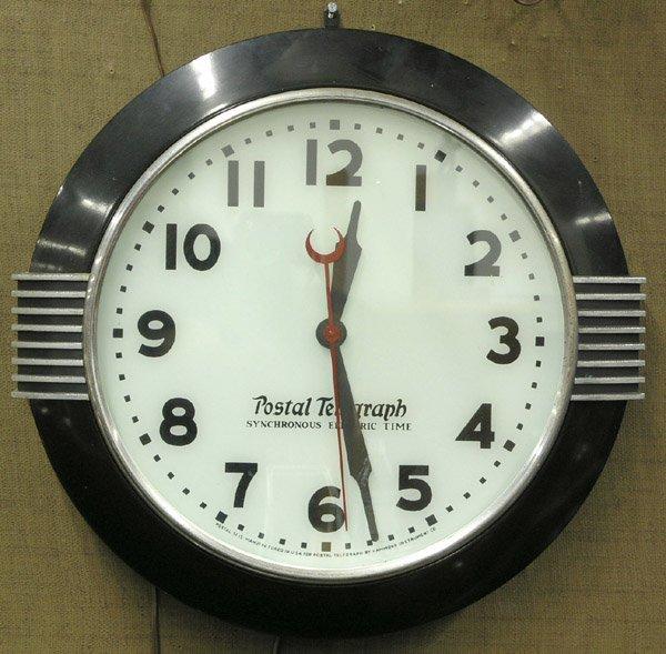 206 Postal Telegraph Electric Clock Lot 206