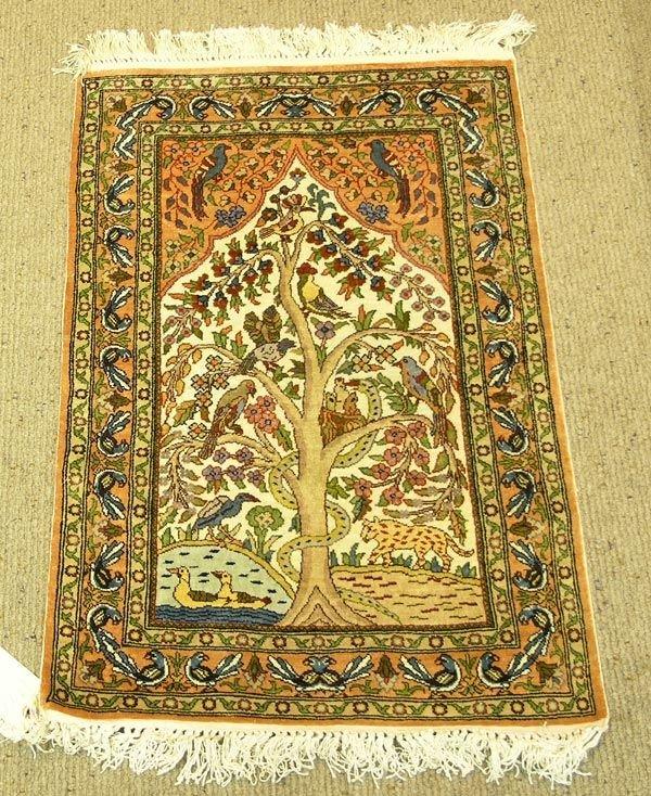 6223: Persian Tabriz Tree Of Life Rug Carpet : Lot 6223