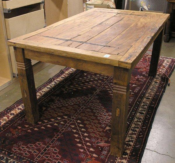 221 dining table antique door elements lot 221