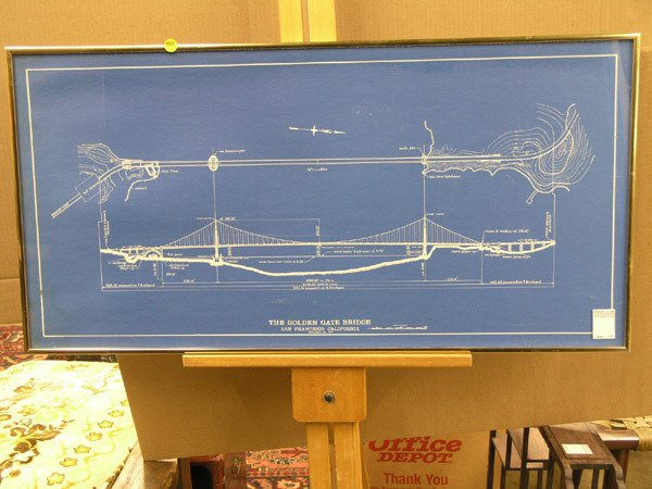Buy Golden Gate Bridge Highway Pier Official Patent Blueprint Poster 12x18  At Walmart.com.